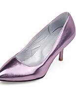 Women's Shoes PU Summer / Pointed Toe Heels Office & Career / Casual Stiletto Heel Others Purple / Silver / Gold