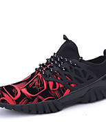 Men's Spring / Fall Comfort Tulle Outdoor / Casual Flat Heel Black / Red / Gold Sneaker