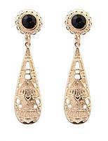 Metallic Atmospheric Large Drop Earrings