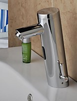 Contemporary  Chrome Finish Bathroom Sink Faucet  with Automatic Sensor Hand Free Faucet(Cold&Hot)