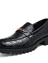 Men's Shoes Wedding / Office & Career / Party & Evening / Casual Customized Materials Oxfords Black