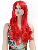 Synthetic Wigs Long Curly Wave Synthetic Hair Red Color Wigs For Women Cosplay Christmas Wig