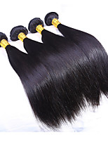 3 Bundles/Lot Silk Straight Hair Weft Indian Virgin Hair Weave Human Hair Extensions