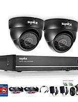 sistema de vigilancia 4ch DVR 720p sannce® con 4hd 1280 * cámaras de seguridad al aire libre 720tvl