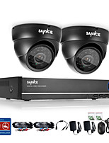 sannce® 4ch 720p dvr surveillance systeem met 4hd 1280 * 720tvl outdoor beveiligingscamera's
