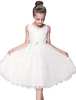 White/Black Wedding Bridesmaid Dress Children Girls /Summer Evening Party Princess Lace Costume for Girl Kids/Teenager