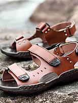 Zapatos de Hombre-Sandalias-Exterior / Deporte-Semicuero-Azul / Marrón