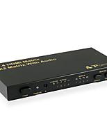 portta 4x2 4pet0402a HDMI v1.4 (matriz) con salida de audio supprtt 3d