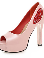 Women's Shoes Leatherette Spring / Summer / Fall Heels / Peep Toe Sandals Wedding  / Casual Stiletto HeelSparkling