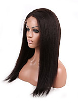 Coarse Afro Kinky Straight Natural Color Unprocessed Brazilian Human Hair Wigs For American Black Women