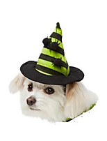 Chat / Chien Costume / Bandanas & Chapeaux Noir / Vert Hiver / Eté Halloween Cosplay / Halloween, Dog Clothes / Dog Clothing-Other