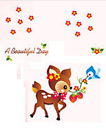 Playful Children's Room nNursery Wall Stickers Cartoon Deer Decorative Wall Stickers