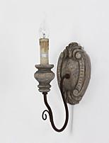 lámpara de pared de metal de madera creativa sola personalidad de cabeza para el hotel de la casa habitación / / café decorar la pared de