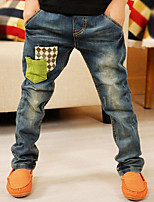 Boy's Cotton Spring/Fall Fashion Casual Trousers Jeans