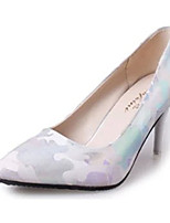 Women's Shoes PU Summer Heels Heels Casual Stiletto Heel Others Blue / White