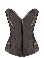 Serre Taille Fermeture Eclair Coton / Spandex Femme