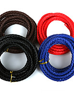 Beadia 7mm Round PU Leather Cord For DIY Jewelry Necklace Bracelet Craft Making(3Mts)