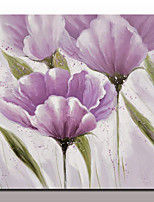 Modern Oil Paintings Hand Painted Canvas Flowers Wall Art Pictures With Stretched Frame Ready To Hang 100x100cm