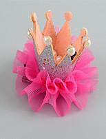 Girls Hair Accessories,Summer / Winter / All Seasons Chiffon / Cotton Blue / Pink / Red