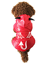 Chat / Chien Costume / Imperméable Rouge Hiver / Printemps/Automne Animal / Halloween Etanche / Cosplay / Halloween, Dog Clothes / Dog