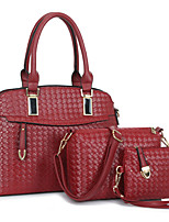Women's Bag Sets PU All Seasons Formal Casual Event/Party Wedding Office & Career Shell Zipper Beige Ruby Black Gold Pool
