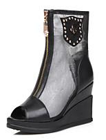 Women's Shoes  Summer / Fall Wedges / Peep Toe / Platform Boots Office & Career / Dress / Casual Wedge Heel Zipper