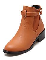 scarpe da donna caduta stivali di moda / inverno / stivali punta rotonda vestono tallone / casuale basso fibbia nero / giallo / beige