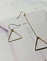 Earring Triangle Shape Drop Earrings Jewelry Women Fashion Party / Daily Alloy 1 pair Gold / Silver