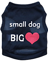Chat / Chien T-shirt Noir / Bleu / Incanardin Eté Floral / Botanique Mode-Pething®, Dog Clothes / Dog Clothing