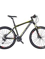 Mountain Bike Men's Air Suspension Fork Double Disc Brake Aluminium 27Speed 26 Inch Aluminium Yellow