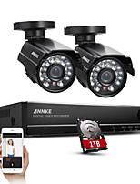 sannce® 4ch cámaras de mal tiempo completo 960H circuito cerrado de televisión de vídeo vigilancia DVR grabador 800tvl de visión nocturna