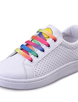 Women's Shoes Leatherette Spring / Summer / Fall Comfort Fashion Sneakers Outdoor /Casual Flat Heel Lace-upGreen