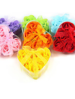 Creative Heart-shaped Rose Soap Flower (Random Color)