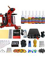 bobine outil machine à tatouage équipement de kit 7 pigments de couleurs spéciales (couleur de la poignée de livraison aléatoire)