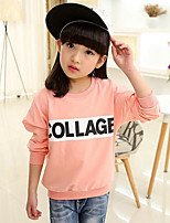 Girl's Casual/Daily Print Tee,Cotton Winter / Spring / Fall Pink / Yellow