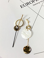 Earring Circle Drop Earrings Jewelry Women Fashion Wedding / Party / Daily Alloy 1 pair Gold / Silver