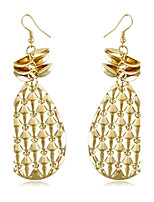 Personality Water Droplets Shape Golden Sequined Tassels Earrings