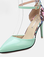 Women's Heels Summer Heels PU Casual Stiletto Heel Buckle Green / Pink / White Others