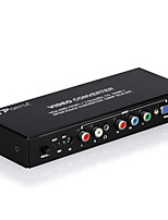 PORTTA VGA To HDMI And Component To HDMI With SPDIF&RL PETVRH