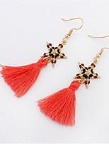 Stylish And Elegant Beads Pentagram Earrings