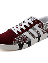 Men's Spring / Fall Tulle Casual Flat Heel Others Black / Blue / Burgundy Sneaker