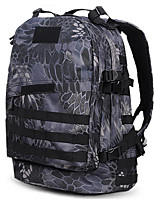30 L Rucksack Camping & Hiking Outdoor Waterproof Black / Brown Nylon