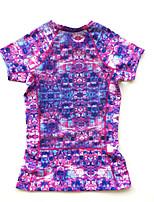 Running T-shirt Women's Short Sleeve Breathable / Quick Dry / Comfortable Running Sports Sports Wear Black / Purple