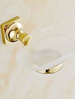 Gold-Plated Finishing Brass Material Soap Basket