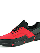 Men's Shoes Casual Fabric Fashion Sneakers Black / Black and Red