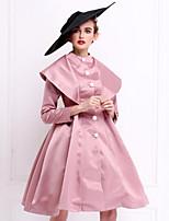 To My Fair Lady® Women's Stand Long Sleeve Midi Dress-1502087