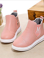 Girls' Shoes Casual PU Flats Fall / Winter Comfort Flat Heel Others Black / Pink / White