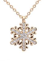 Exquisite Diamond Snowflake Necklace Gift Girls