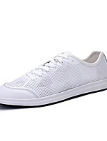 Men's Shoes Tulle Casual Sneakers Casual Sneaker Flat Heel Others Black / White