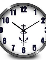 Simple Creative Naval Ensign Bedroom Digital Metal Wall Clock